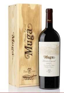 Червени вина Muga  Selección Especial Magnum en caja de madera