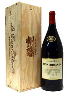 Червени вина Viña Ardanza  en caja de madera (Magnum)